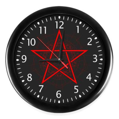 Настенные часы пентаграмма