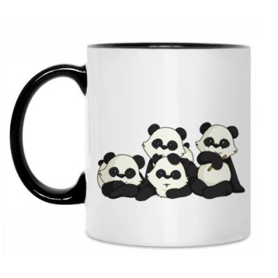Кружка Четыре панды