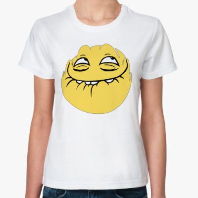 Классическая футболка Peka face мем