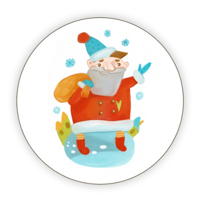 Костер (подставка под кружку) С новым годом!