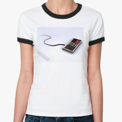 Женская футболка Ringer-T  Nintendo
