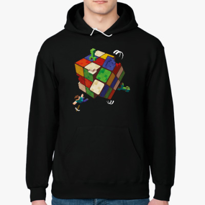 Толстовка худи Майнкрафт и кубик Рубика