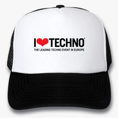Кепка-тракер I Love Techno