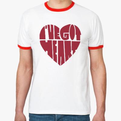 Футболка Ringer-T У меня есть сердце