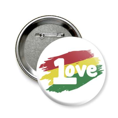 Значок 58мм 1 Love