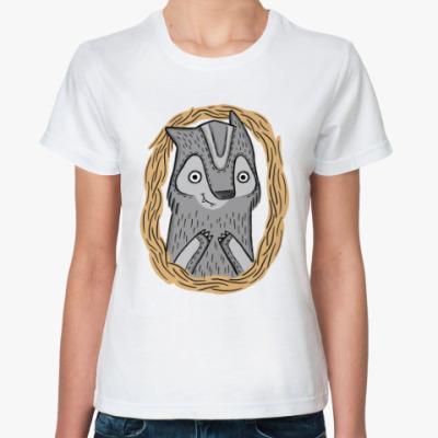 Классическая футболка Волчик