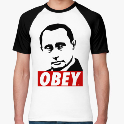 Футболка реглан Путин (Стиль Obey)