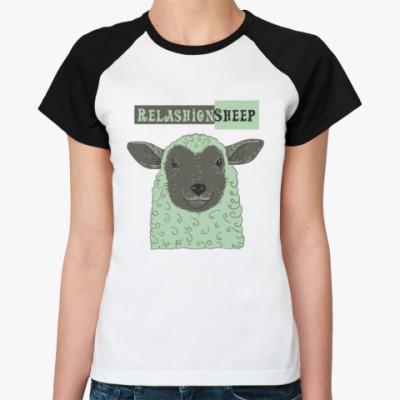 Женская футболка реглан Овечка