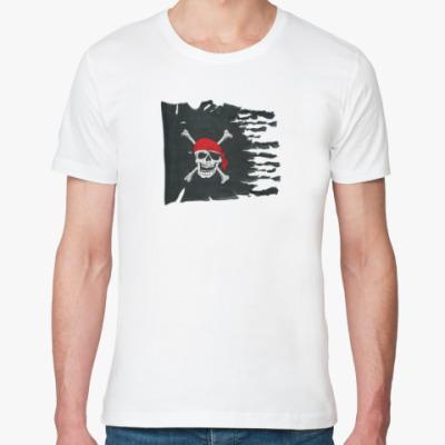 Футболка из органик-хлопка Пиратский флаг