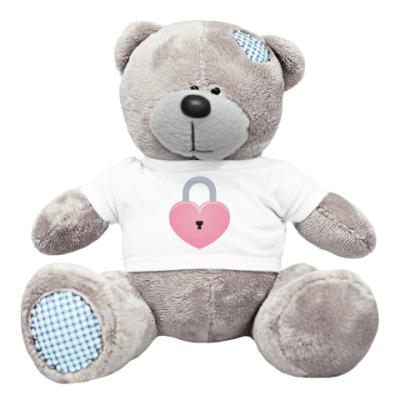 Плюшевый мишка Тедди Сердце-замок