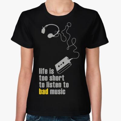 Женская футболка   Bad Music