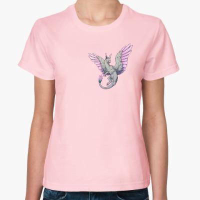 Женская футболка 'Милый дракончик'