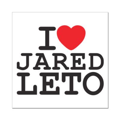 Наклейка (стикер) Я люблю Джареда Лето