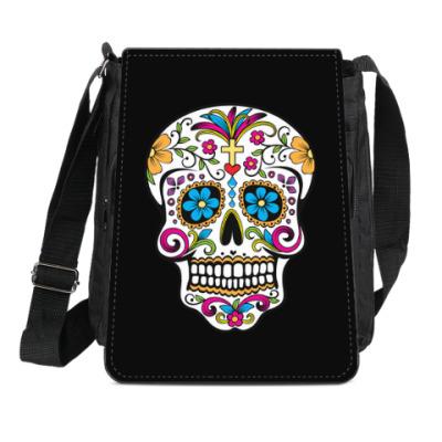 Сумка-планшет Мексиканский череп Calavera