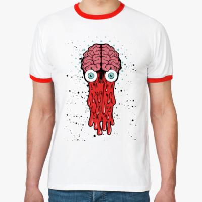 Футболка Ringer-T   Brain