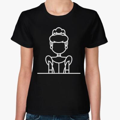 Женская футболка Золушка
