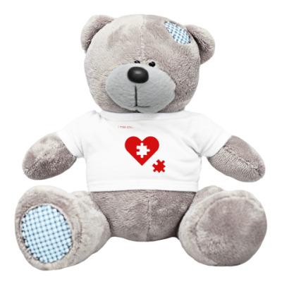 Плюшевый мишка Тедди Скучаю по тебе