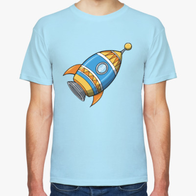 Футболка Космос. Ракета. Котэ. Звезды.