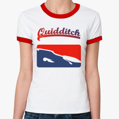 Женская футболка Ringer-T Quidditch  жен(б/к)