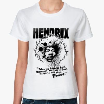 Классическая футболка Hendrix peace Жен