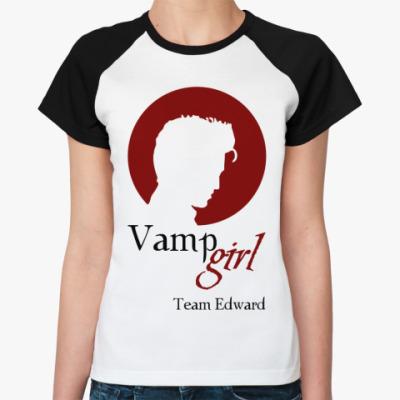 Женская футболка реглан Vampgirl
