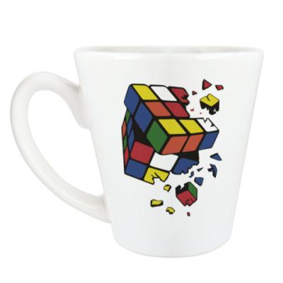 Чашка Латте Сломанный кубик Рубика