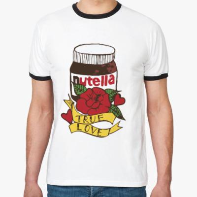 Футболка Ringer-T Nutella Нутелла Шоколад