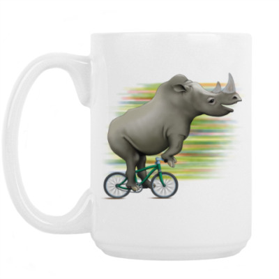 Кружка Носорог на велосипеде