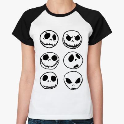 Женская футболка реглан Джек