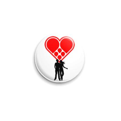 Значок 25мм Любовная пара