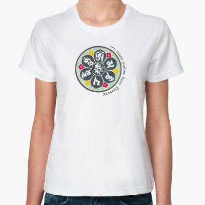 Классическая футболка Мандала- Ом Мани Падме ум