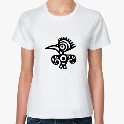 Классическая футболка Этно птиц