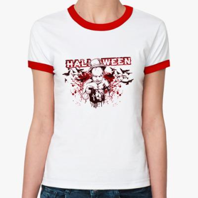 Женская футболка Ringer-T Bloody Halloween R-T Ж(б/к)