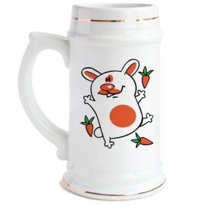 Пивная кружка Морковка-парти