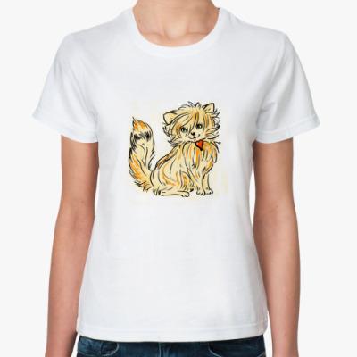 Классическая футболка Кошечка