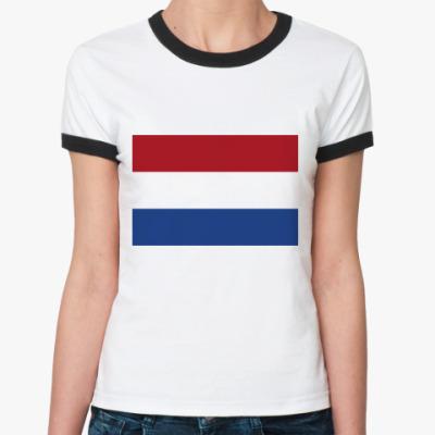Женская футболка Ringer-T  Нидерланды