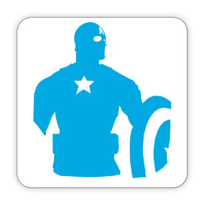 Костер (подставка под кружку) Капитан америка