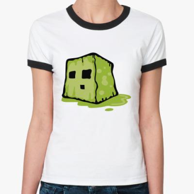 Женская футболка Ringer-T  Slime