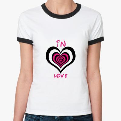 Женская футболка Ringer-T In Love