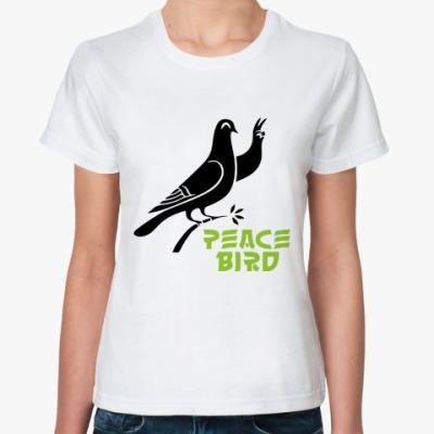 Классическая футболка Peace Bird