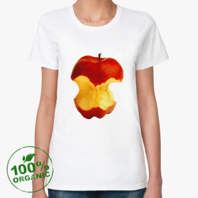 Женская футболка из органик-хлопка В яблочко!