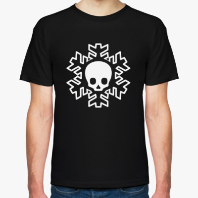 Футболка Cнежинка skull!