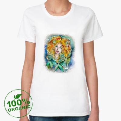 Женская футболка из органик-хлопка 'РЫБЫ'