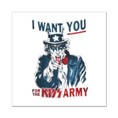 Наклейка (стикер) Kiss
