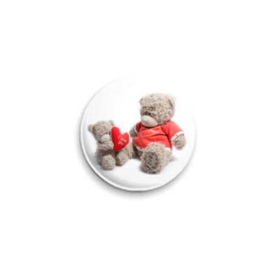 Значок 25мм  Мишка Тедди