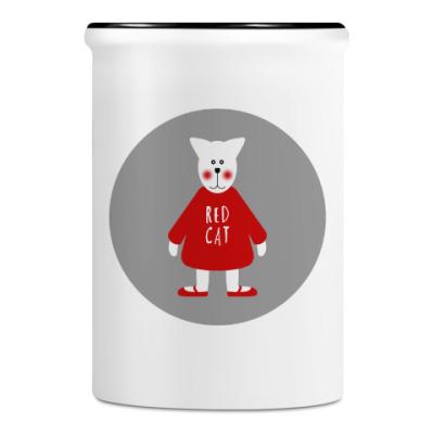 Подставка для ручек и карандашей Red Cat