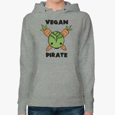 Женская толстовка худи Веган пират