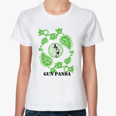 Классическая футболка Panda Gun