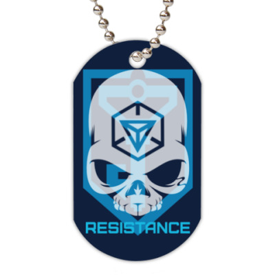Жетон dog-tag Resistance