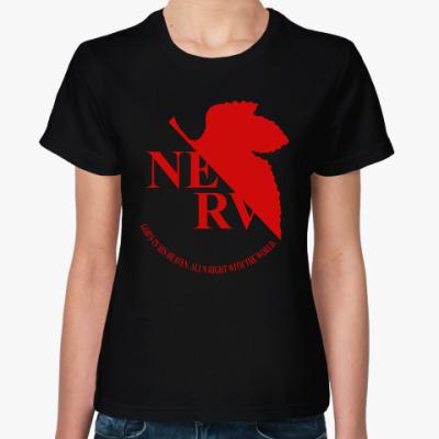 Женская футболка Neon Genesis Evangelion NERV